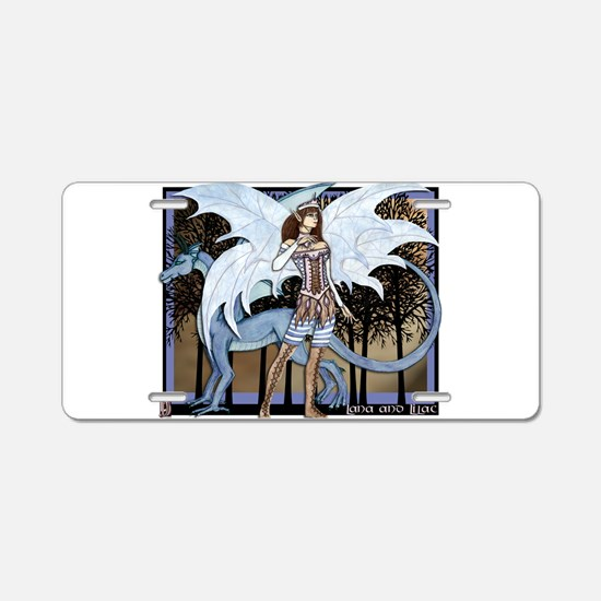 Lana and Lilac Aluminum License Plate