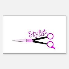 Hair Stylist/Beauticians Sticker (Rectangle)