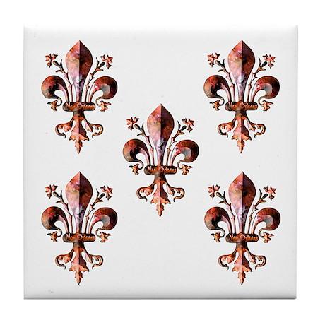 Colorful Antique New Orleans Tile Coaster