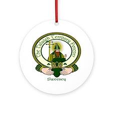 Sweeney Clan Motto Ornament (Round)