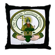 Sweeney Clan Motto Throw Pillow