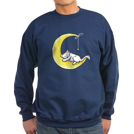 White Kitty Lunar Love Sweatshirt (dark)