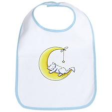White Kitty Lunar Love Bib
