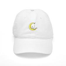 White Kitty Lunar Love Baseball Cap
