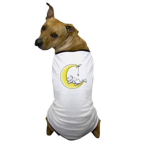 White Kitty Lunar Love Dog T-Shirt