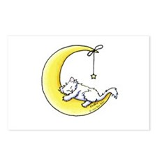 White Kitty Lunar Love Postcards (Package of 8)
