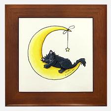 Black Kitty Lunar Love Framed Tile
