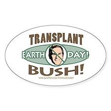 Earth Day Anti-Bush Oval Decal