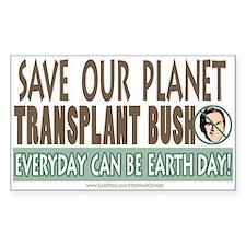Earth Day Anti-Bush Rectangle Decal