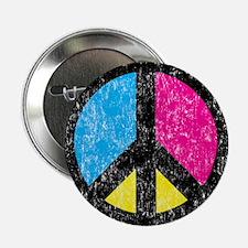 """Peace Sign Vintage 2.25"""" Button"""