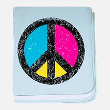Peace Sign Vintage baby blanket
