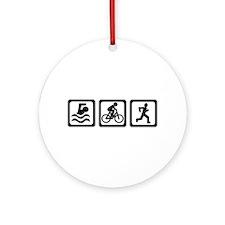 Triathlon Ornament (Round)