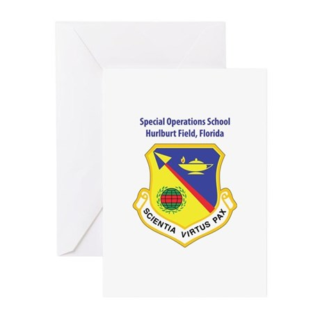 Special Operations School Greeting Cards (Package