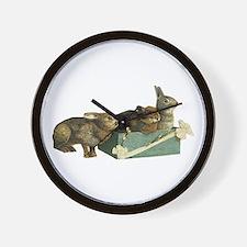 Three Bunnys Wall Clock