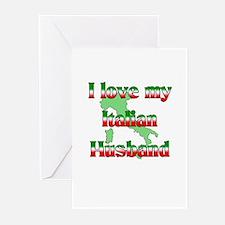 I Love My Italian Husband Greeting Cards (Package