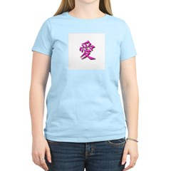 Love in Japanese01 Women's Pink T-Shirt