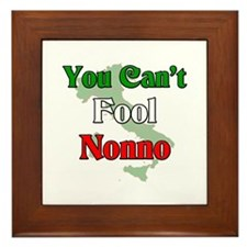 You can't fool Nonno Framed Tile