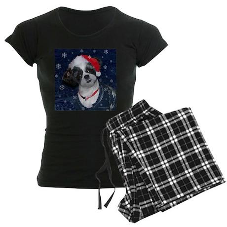 Shih Tzu Santa Women's Dark Pajamas