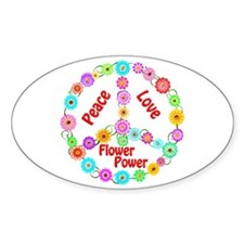Flower Power Peace Sign Decal