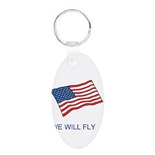 Cute Country flag Aluminum Oval Keychain