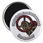 """Be Groovy Tie Dye Art 2.25"""" Magnet (100 pack)"""