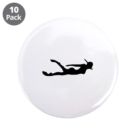 "Snorkelling 3.5"" Button (10 pack)"