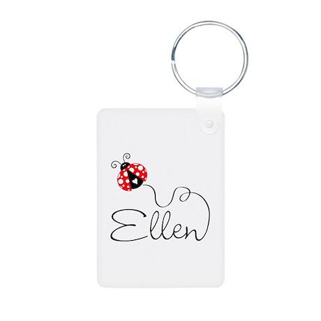 Ladybug Ellen Aluminum Photo Keychain