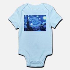 Starry Night Border Collies Infant Body Suit