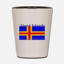 Aland Islands Flag Shot Glass