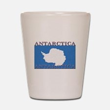 Antarctica Flag Shot Glass