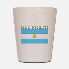 Del Porto Argentina Flag Shot Glass