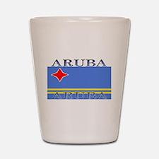 Aruba Aruban Flag Shot Glass
