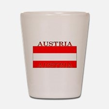 Austria Austrian Flag Shot Glass