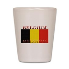 Belgium Belgian Flag Shot Glass