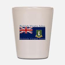 British Virgin Islands Flag Shot Glass