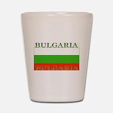 Bulgaria Bulgarian Flag Shot Glass