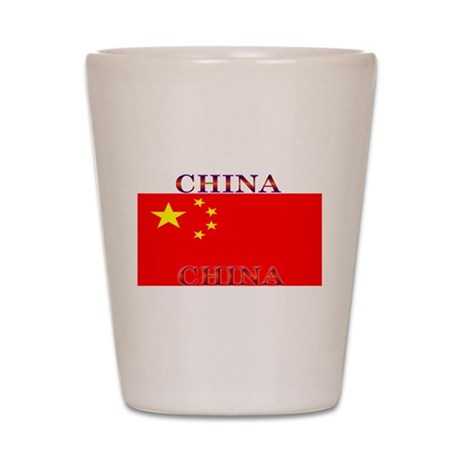 China Chinese Flag Shot Glass