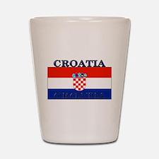 Croatia Croatian Flag Shot Glass