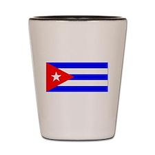 Cuba Cuban Blank Flag Shot Glass