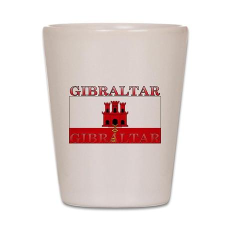 Gibraltar Flag Shot Glass