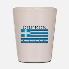 Greece Greek Flag Shot Glass