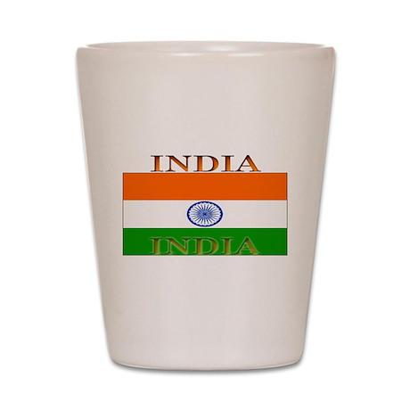 India Indian Flag Shot Glass