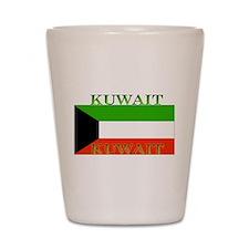 Kuwait Kuwaiti Flag Shot Glass