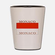 Monaco Monegasque Flag Shot Glass