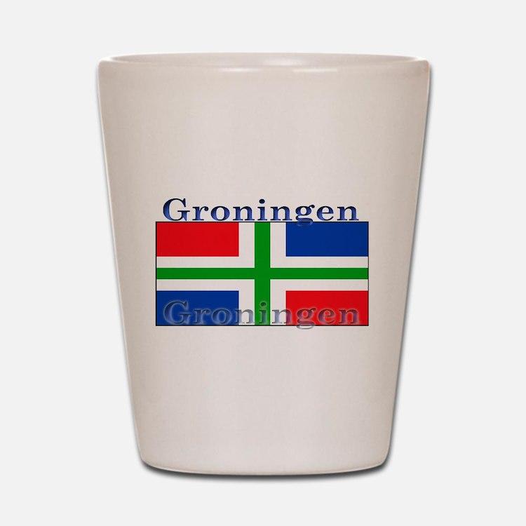Groningen Gronings Flag Shot Glass