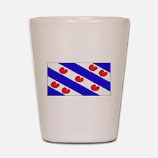 Friesland Frisian Blank Flags Shot Glass