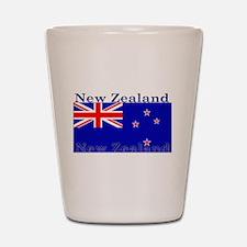 New Zealand Zealander Flag Shot Glass