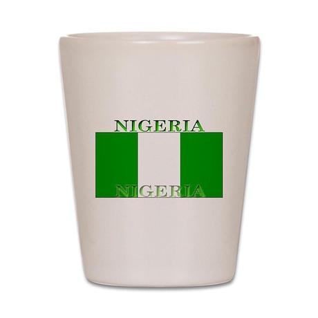 Nigeria Nigerian Flag Shot Glass