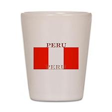 Peru Peruvian Flag Shot Glass