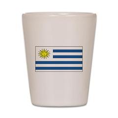 Uruguay Blank Flag Shot Glass